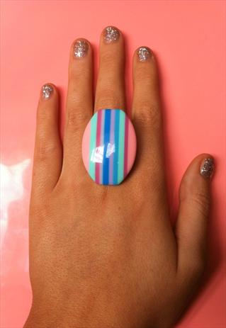 Pastel multicoloured ring